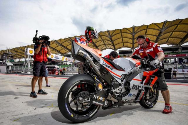 Ducati Desmosedici GP19 2019 duoc nang cap va xu ly cac loi ky thuat