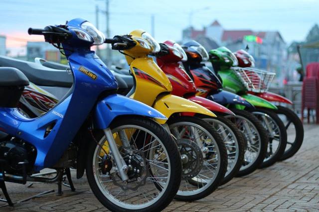 Wave 125 lung linh trong mot ban do cuc chat cua Biker Binh Phuoc