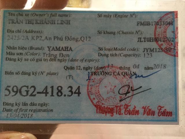 Ban xe YAMAHA YB125 xe chinh chu - 2