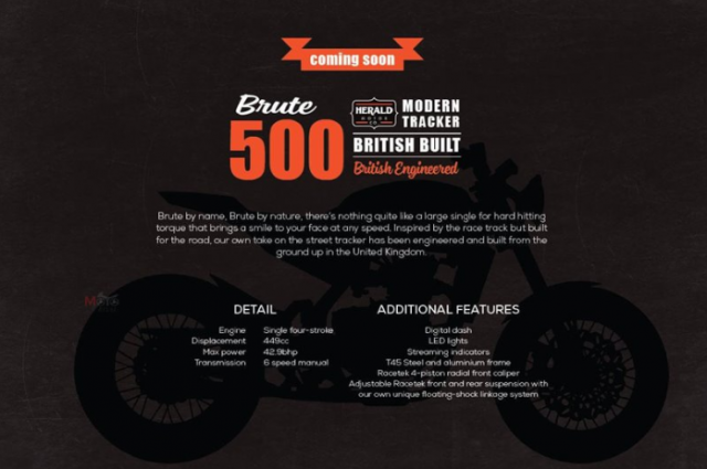 Herald Brute 500 Street Concept mau xe lap rap 100 tu Anh Quoc kha loi cuon cac tay me xe co