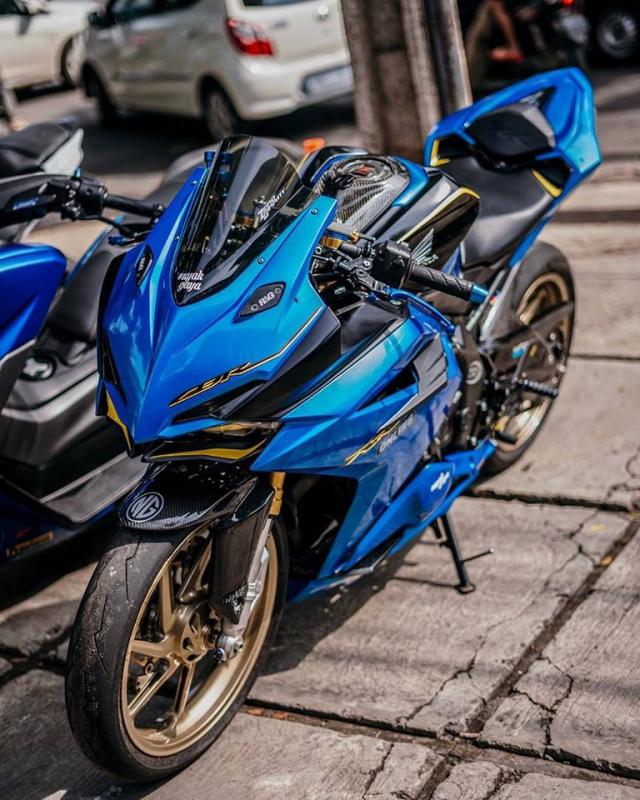 Honda CBR250RR do phong cach xanh Blue tran day hi vong - 4