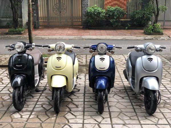 Honda Giorno 50cc Mau xe duoc gioi tre san lung rao riet - 2