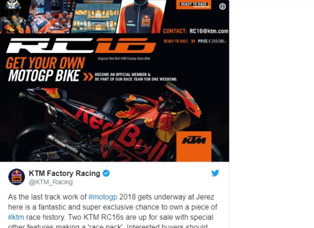 KTM RC16 2018 MotoGP duoc ban lai voi gia chinh thuc 6 ty 6 - 5