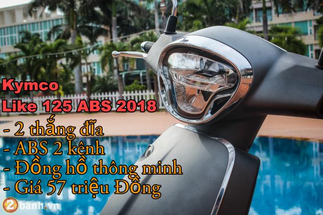 Like 125 ABS 2018 gia 57 trieu dong mau xe ga an toan danh cho phai dep