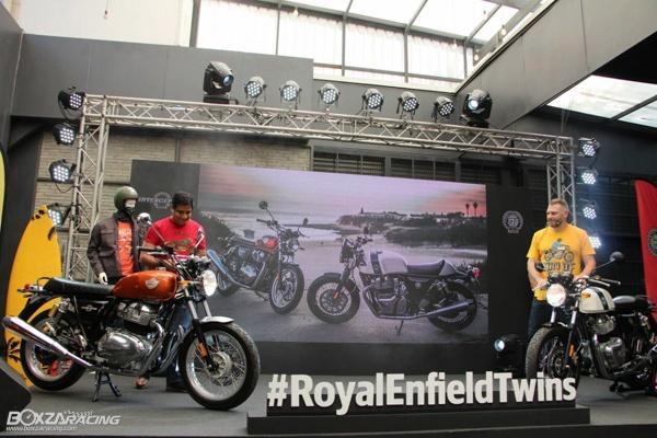 Royal Enfield ra mat Continental GT 650 va Interceptor INT 650 voi gia tu 150 trieu VND