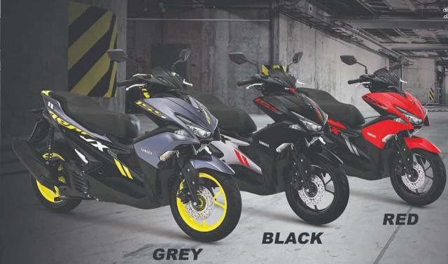 Yamaha Aerox 155 2019 bo sung sac mau moi ca tinh the thao