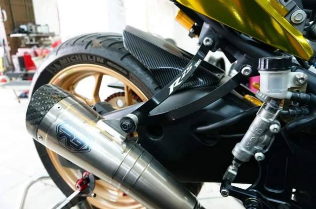 Yamaha R3 gay chu y voi phong cach Vang Chrome - 8