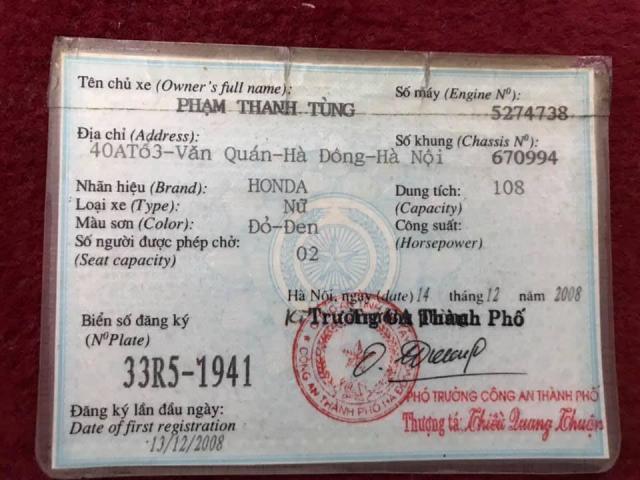 Airblade 110 den do 2008 chinh chu 18 trieu - 3