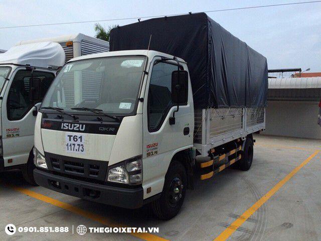 Ban xe tai Isuzu 1T4 thung bat QKR55F bao hanh chinh hang
