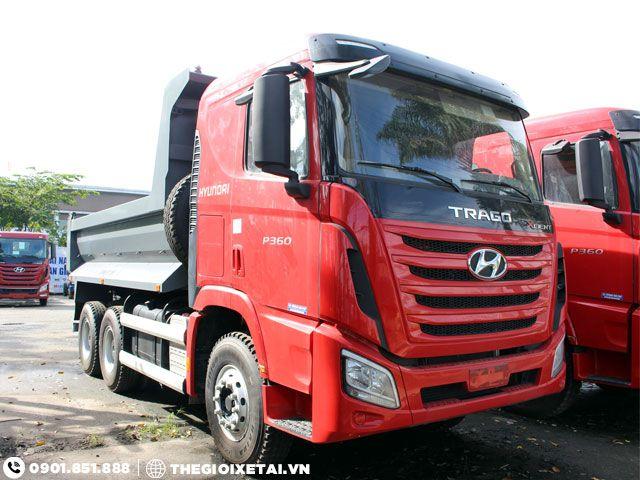 Can ban xe ben Hyundai Xcient 15 tan thung hang the tich 10m3 gia uu dai - 5