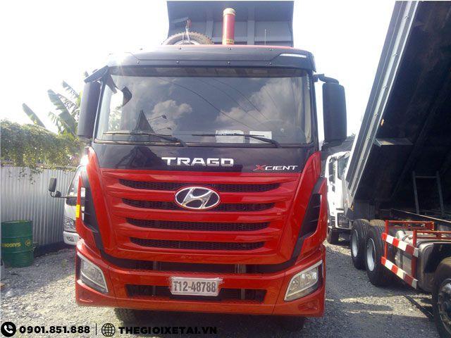 Can ban xe ben Hyundai Xcient 15 tan thung hang the tich 10m3 gia uu dai - 2