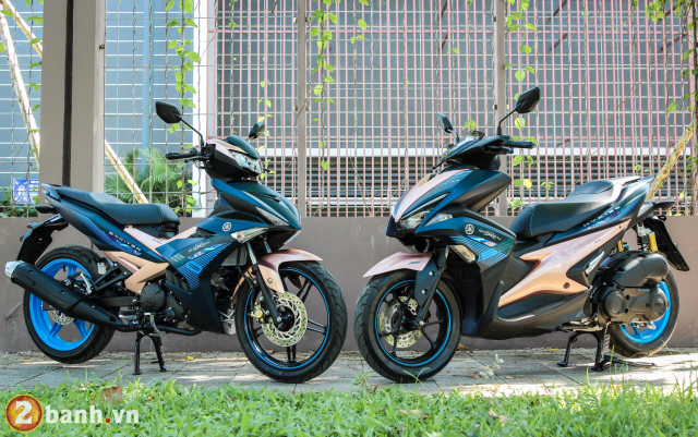 Yamaha Exciter 150 NVX 155 phien ban Doxou Trao luu xe thoi trang moi cua gioi tre 2019