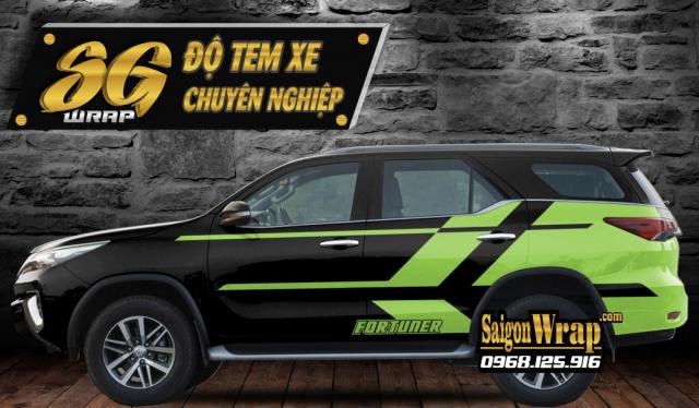 Do Tem Xe Fortuner 2018 2019 Tai SaiGonWRAP Tem Xe O To Chuyen Nghiep - 6