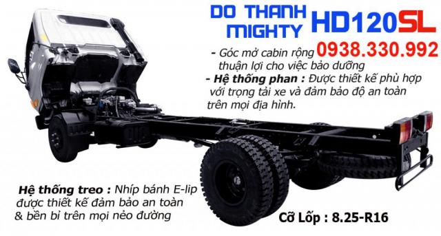 Do Thanh HD120SL 8 Tan Gia xe tai 8 Tan thung dai - 2