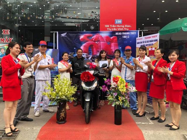 Gan 2700 xe Honda trung thuong da co chu trong chuong trinh Ngan qua hap dan van loi tri an