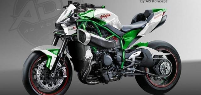 Kawasaki H2n Concept lo dien hinh anh thiet ke dua tren co so Ninja H2R