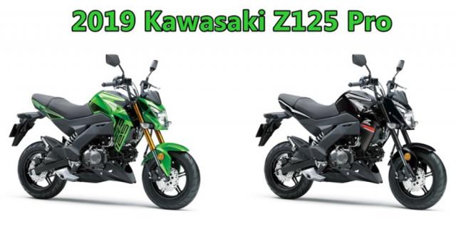 Kawasaki Z125 Pro 2019 ra mat voi phien ban tem moi day ca tinh