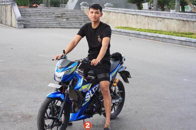 Satria 150 ban do ba chay cua dan choi Nam Dinh - 11