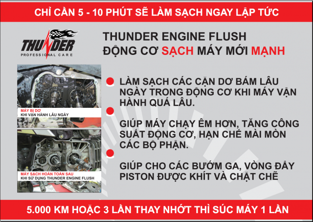 Suc Dong Co Thunder Engine Flush Dong Co Sach May Moi Manh - 2