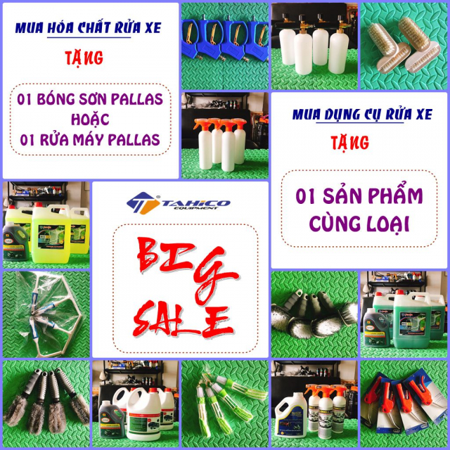 Tahico STL sale khung cuoi nam Mua 3 tang 1 nuoc rua xe va dung cu rua xe