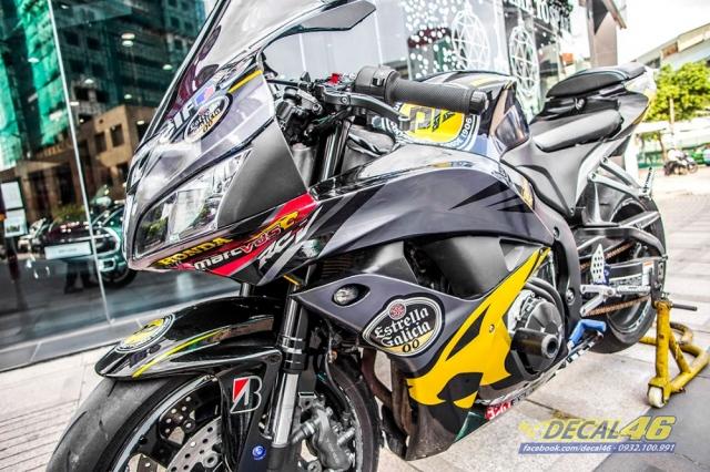 Tem trum CBR600 Golden Racing candy tai Decal 46 - 8