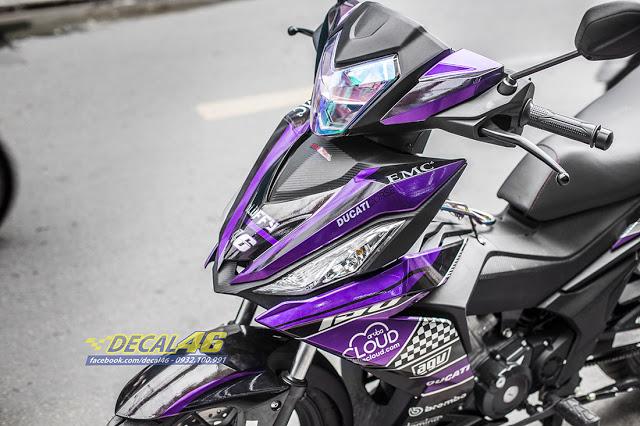 Tem trum Winner 150 Ducati candy den tim tai Decal 46 - 3