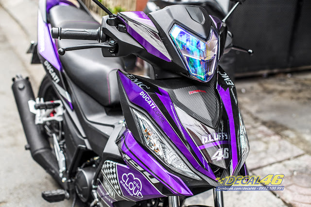 Tem trum Winner 150 Ducati candy den tim tai Decal 46 - 6