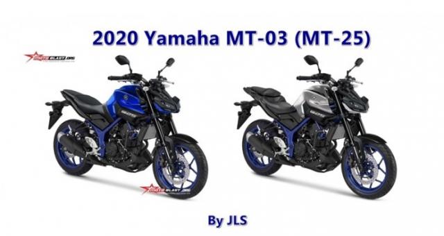 Yamaha MT03 2020 nhan duoc thiet ke dua tren co so MT09