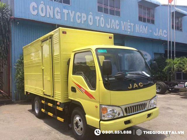 Ban xe tai Jac 1T25 tan thung kin HFC1025K giao xe ngay