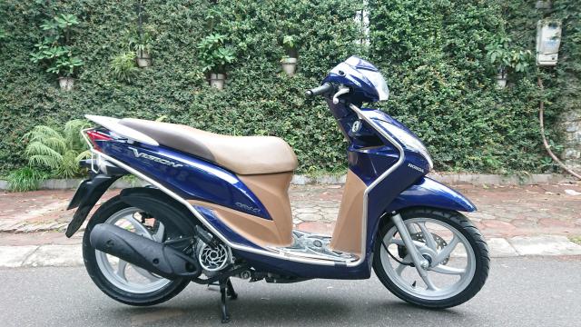 Can ban Honda Vision fi 2014 xanh tim con rat moi chinh chu nha su dung bien Hn - 4
