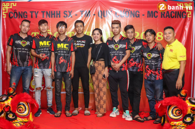 Cong ty TNHH SX TM Quy Cuong MC Racing to chuc buoi tiec tat nien 2018