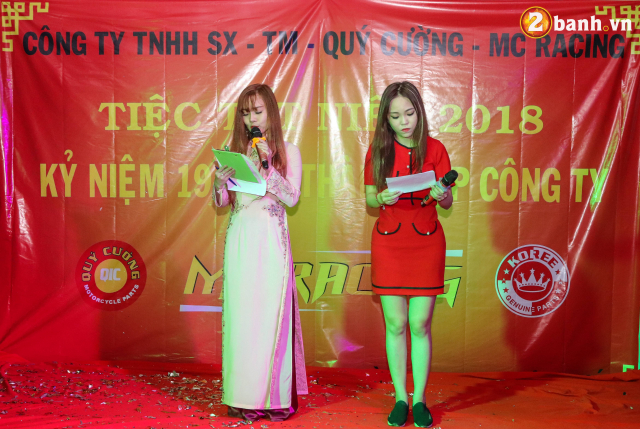 Cong ty TNHH SX TM Quy Cuong MC Racing to chuc buoi tiec tat nien 2018 - 20