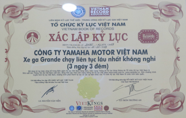 Grande Hybrid xac lap 2 ky luc Viet Nam cho Yamaha Motor - 8