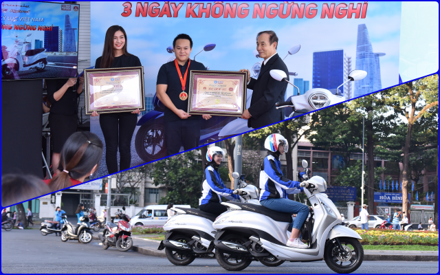 Grande Hybrid xac lap 2 ky luc Viet Nam cho Yamaha Motor