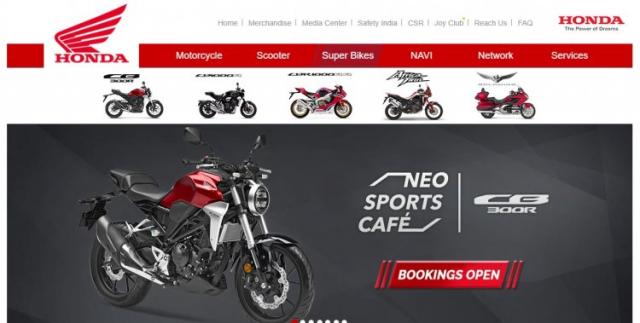 Honda CBR650F bi xoa khoi trang web cua Honda An Do