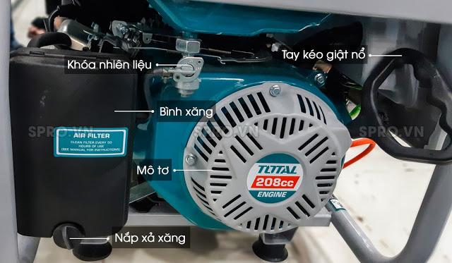 May phat dien chay xang TOTAL 35KW TP135006E - 3