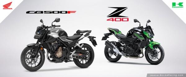 So sanh Honda CB500F VS Kawasaki Z400 2019