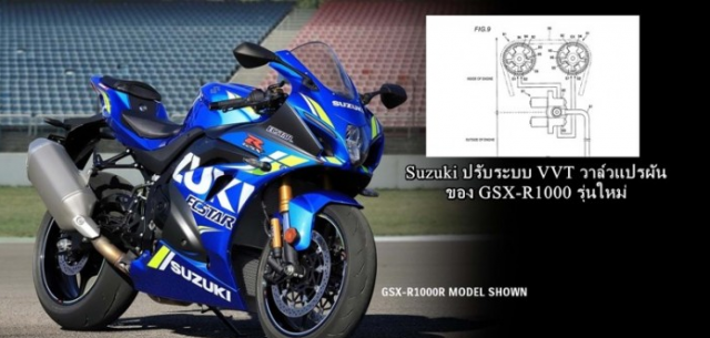 Suzuki he lo bang thiet ke Van VVT moi danh cho Suzuki GSXR1000 canh tranh voi VTEC cua CBR1000RR