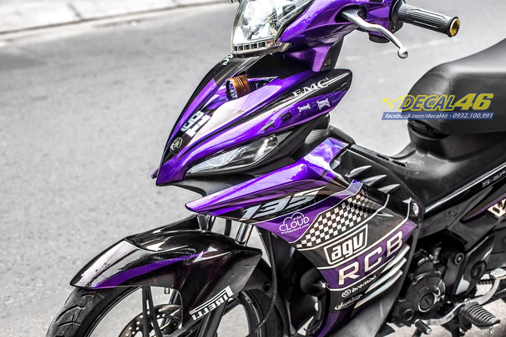 Tem xe Exciter 135 Ducati candy den tim tai Decal 46