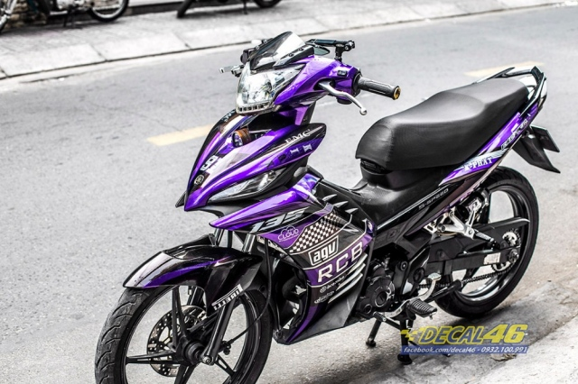 Tem xe Exciter 135 Ducati candy den tim tai Decal 46 - 3