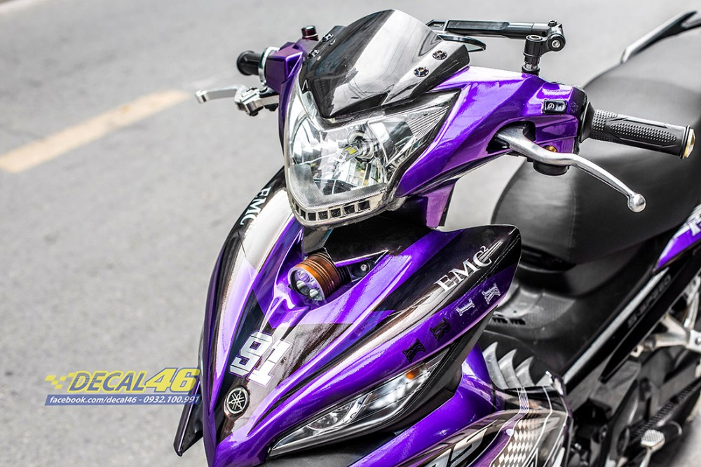 Tem xe Exciter 135 Ducati candy den tim tai Decal 46 - 2