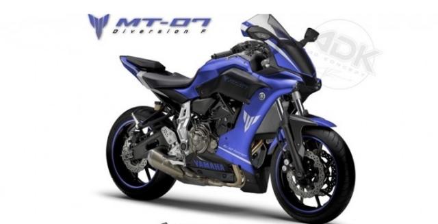 Yamaha MT07 DiversionF ban thiet ke sang tao ket hop R1 tu Custom Italia