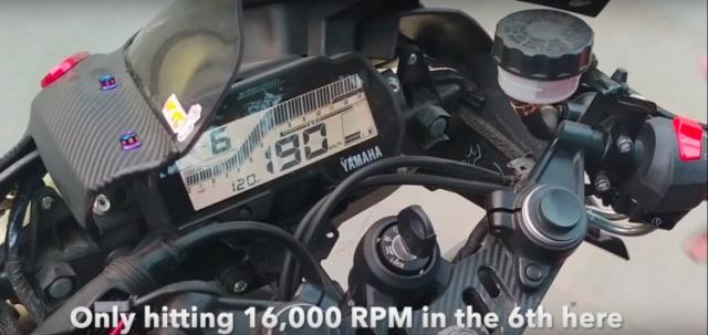 Video Yamaha R15 V30 duoc nang cap dat 16000 vong phut