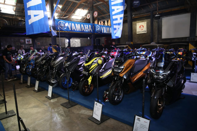 Chiem nguong Nmax Aerox 155 do tai cuoc thi Yamaha Custo Maxi - 8