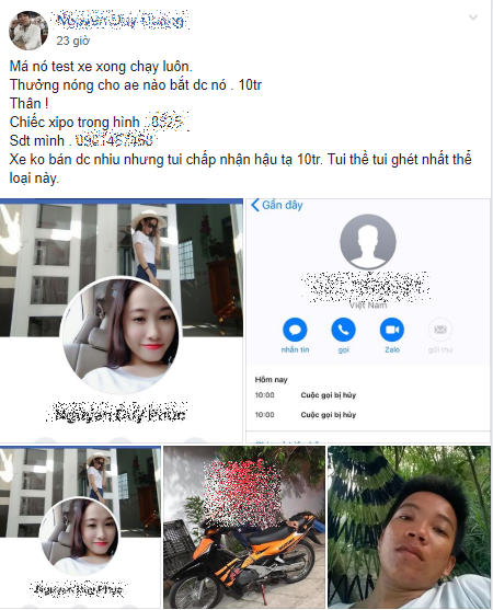 Cho test thu xe manh hay yeu Thanh nien ban xe mat trang chiec XI PO - 2