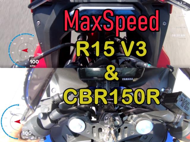 CLIP So sanh Maxspeed bang GPS giua R15 V3 CBR150R do biker thuc hien