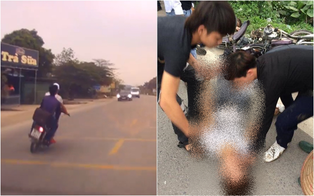 Clip Thanh nien chay Dream danh vong tong Toyota Vios tu vong tai cho