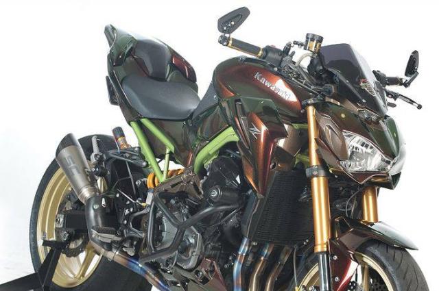 Kawasaki Z900 do tong mau la cung dan do choi sieu khung - 3