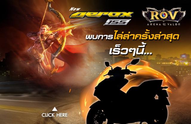 Lo dien Aerox 155 2019 voi 6 sac mau cua phien ban Lien Quan Mobile