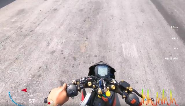Khong tuong voi Raider 150 do gac may KTM dat van toc 167km qua GPS trong 400m - 5